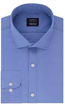 Arrow 1851 Men's Dress Shirt Poplin Xtreme Slim Fit Spread Collar
