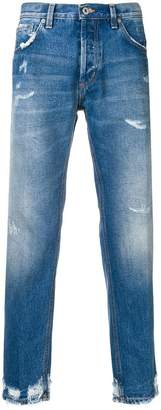 Dondup stonewashed tapered jeans