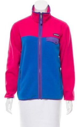 Patagonia Colorblock Fleece Jacket $70 thestylecure.com