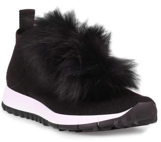 Jimmy Choo Norway black pompom sneaker
