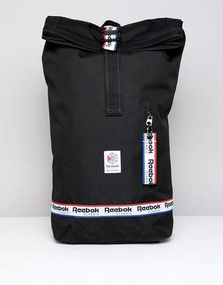 Reebok Classic Backpack With Logo Taping In Black DH3565