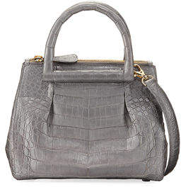 Nancy Gonzalez New Mini Plisse Crocodile Crossbody Bag