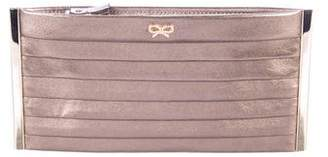 Anya Hindmarch Pleated Iro Leather Clutch