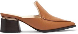 Nicholas Kirkwood Beya Textured-leather Mules - Tan