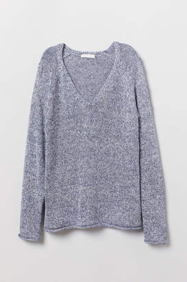 H&M Loose-knit Sweater - Blue