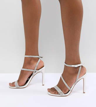 Asos DESIGN Hartly Bridal Embellished Block Heeled Sandals