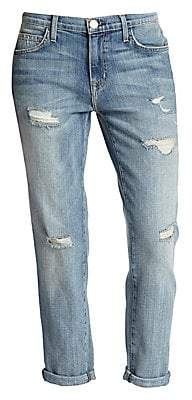 Current/Elliott Women's The Fling Boyfriend Distressed Slim Crop Jeans