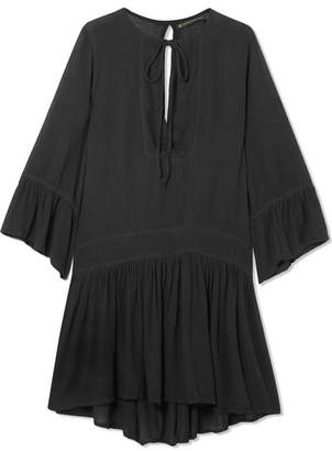 Vix Agata Embroidered Voile Dress - Black