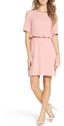 Women's Charles Henry Ruffle Crepe Sheath Dress $88 thestylecure.com