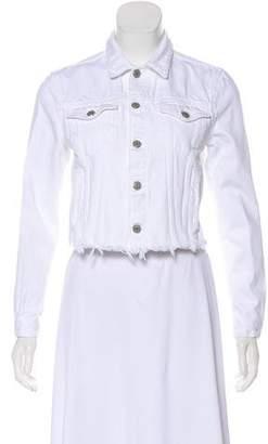 GRLFRND Distressed Cropped Denim Jacket