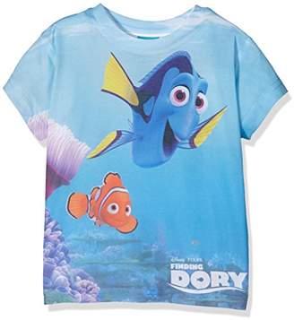 Disney Girl's DEEP BLUE Short Sleeve T-Shirt