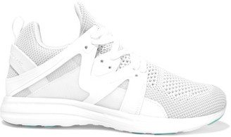 APL Athletic Propulsion Labs - Ascend Mesh And Rubber Sneakers - White $195 thestylecure.com
