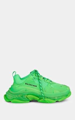 Balenciaga Women's Triple S Leather & Mesh Sneakers - Lt. Green