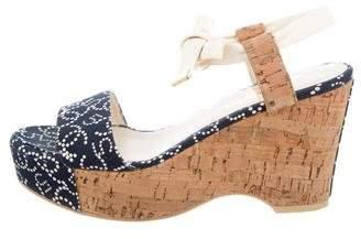 Chanel Platform Wedge Sandals