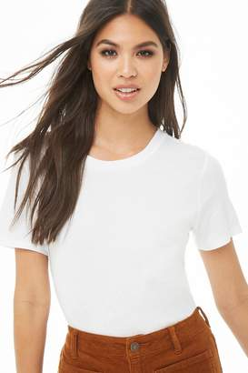 Forever 21 Cotton-Blend Crew Neck Tee