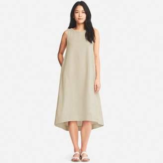 Uniqlo WOMEN Linen Blend Sleeveless Dress