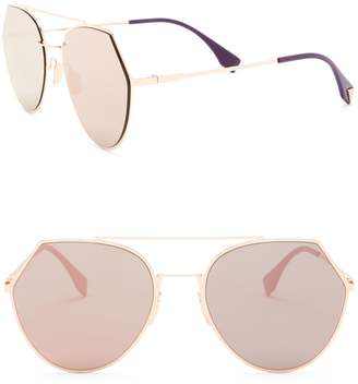 Fendi Modified Aviator 55mm Sunglasses