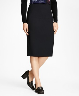 Brooks Brothers Petite Wool Pencil Skirt