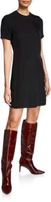 Rag & Bone Aiden Double-Vented Crewneck T-Shirt Dress