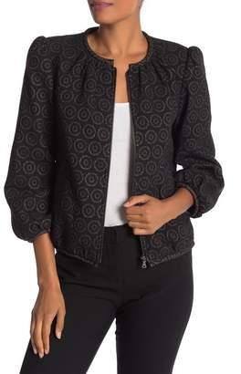Trina Turk Mannix Front Zip Print Jacket