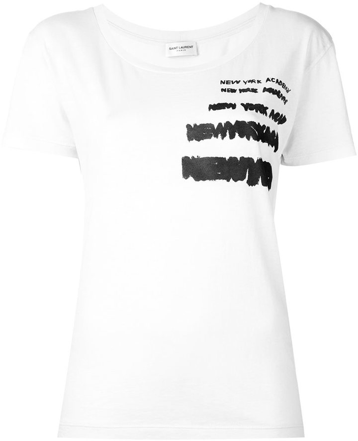 Saint LaurentSaint Laurent repeat print T-shirt
