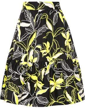 Splendid Printed Cotton-Poplin Skirt
