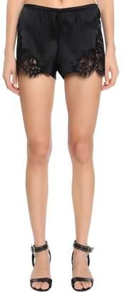 Ermanno Scervino Lace & Silk Satin Shorts
