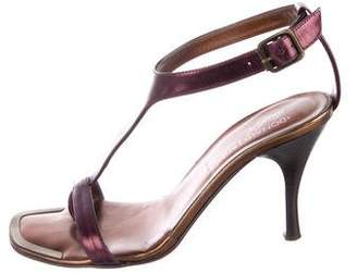 Donald J Pliner Metallic Leather Strap Sandals