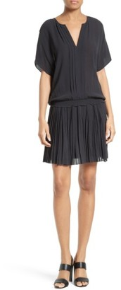 Women's Joie Bryton Pleated Blouson Dress $318 thestylecure.com