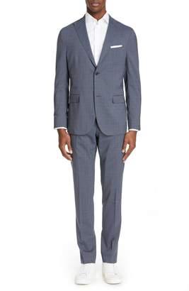 Boglioli Fresco Slim Fit Stretch Solid Wool Suit