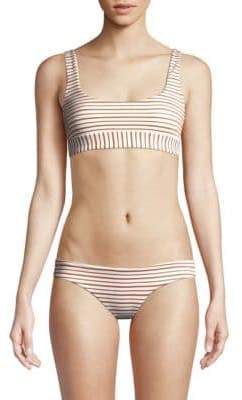 L-Space LSpace Miller Metallic Striped Bikini Top