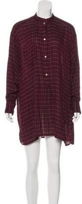 Etoile Isabel Marant Plaid Mini Dress
