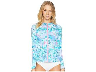 Lilly Pulitzer UPF 50+ Sunny Rashguard Women's Swimwear