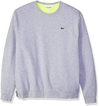 Lacoste Men's Long Sleeve Melleton Gratte Hoodie with Zipper Closure Bottom Sweatshirt