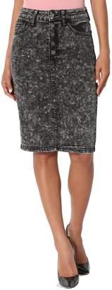 TheMogan Women's Distressed Ripped Stretch Jean Mini Short Denim Skirt M
