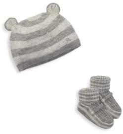 Ralph Lauren Baby's Two-Piece Striped Hat& Boots Set