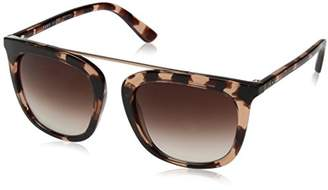 DKNY Women's Injected Woman Square Sunglasses