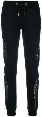 Philipp Plein lace insert trousers