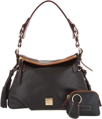 Dooney & Bourke Smooth Leather Shoulder Bag w/ Accessories- Teagan