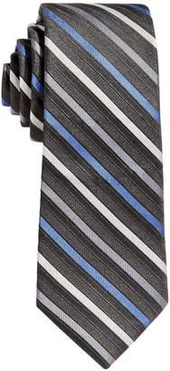 Calvin Klein Big Boys Gemstone Striped Zipper Necktie