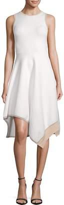 Derek Lam 10 Crosby Women's Asymmetrical-Hem Dress
