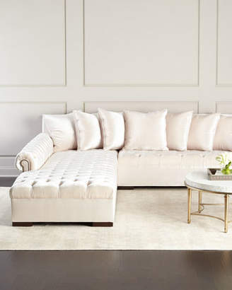 Haute House Divine Tufted Left Chaise Sectional 157""