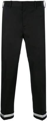 Neil Barrett contrast cuff trousers