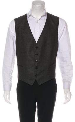 Gucci Pinstriped Wool Suit Vest