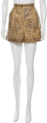 Chanel Paris-Cuba High-Rise Shorts