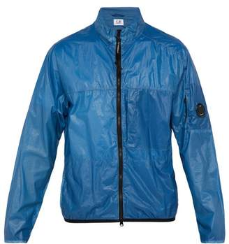 C.P. Company Lens Coated Zip Through Jacket - Mens - Blue
