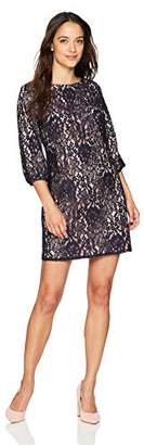 Jessica Howard Women's Petite Lace Balloon Sleeve Dress