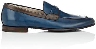 Barrett Men's Apron-Toe Burnished Leather Penny Loafers