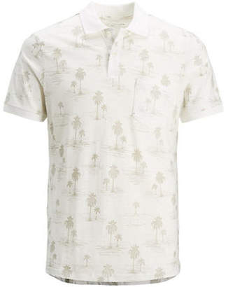 Jack and Jones Winston Printed Cotton Polo