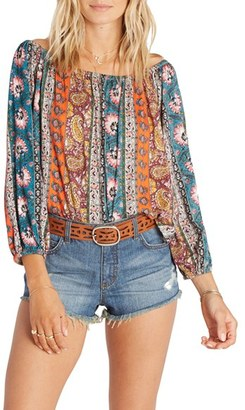 Billabong Behind Me Off the Shoulder Top $44.95 thestylecure.com